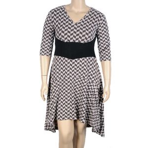 Effies Heart Dauphine Dress In Herringbone